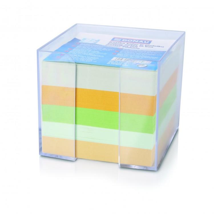 Cub hartie color 8.3X8.3cm 800 file cu suport plastic, DONAU