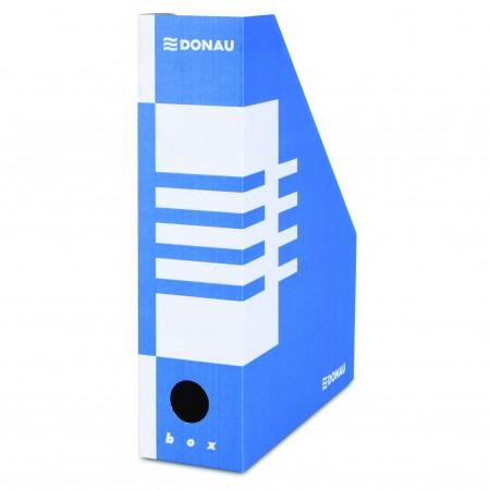 Suport vertical documente 8cm carton albastru, DONAU