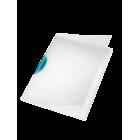 Dosar plastic cu clema pivotanta alb (clema bleu), LEITZ Colorclip Magic
