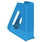 Suport vertical documente plastic albastru, ESSELTE Europost Vivida