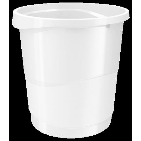 Cos hartii 14l plastic alb, ESSELTE Europost Vivida