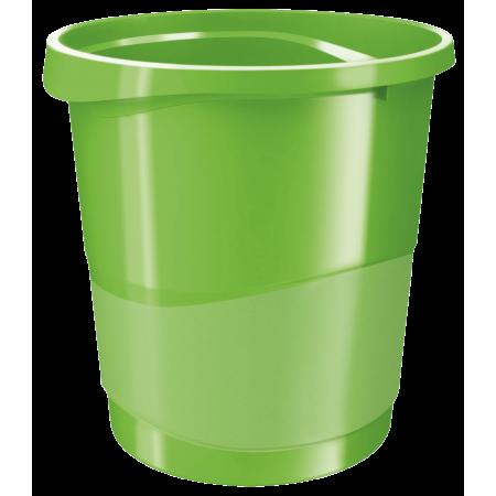 Cos hartii 14l plastic verde, ESSELTE Europost Vivida