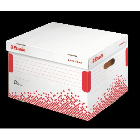 Container arhivare bibliorafturi 392x301x334mm alb, ESSELTE Speedbox