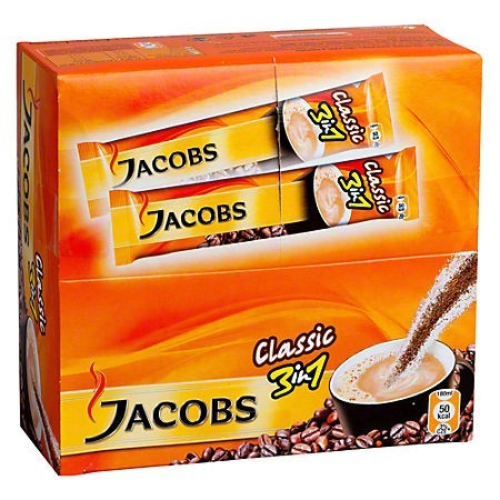 Cafea instant 3 in 1 12g 24 pliculete/cut, JACOBS Classic
