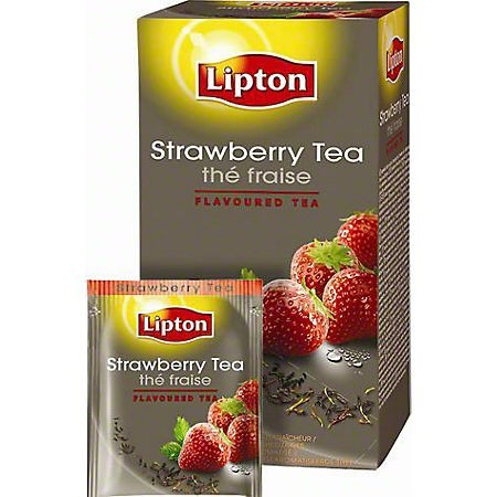 Ceai de capsuni 25 pliculete/cut, LIPTON
