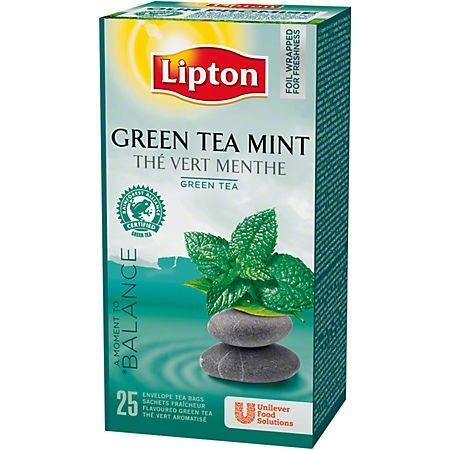 Ceai verde si menta 25 pliculete/cut, LIPTON