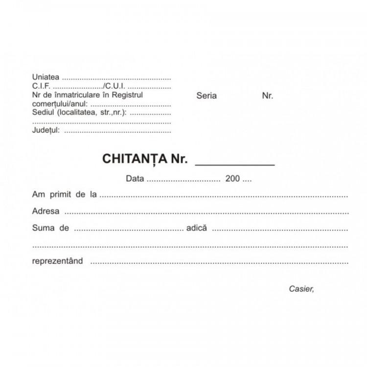 Chitantier A6 autocopiativ 2 ex. 50 set/carnet