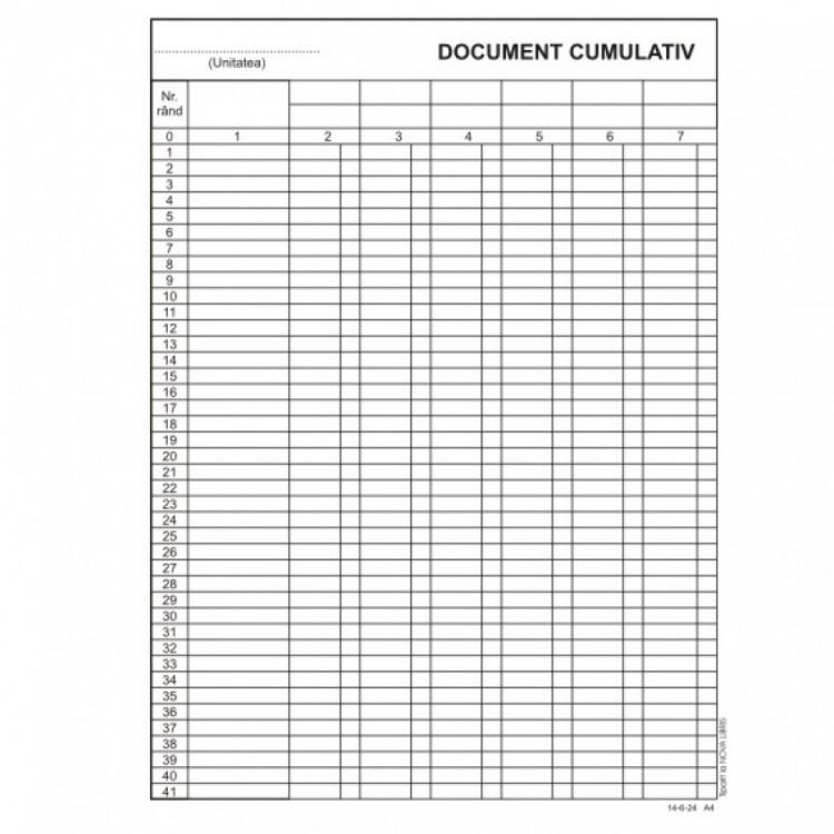 Document cumulativ A4 vertical F