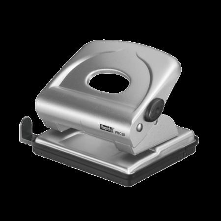 Perforator 25 coli metalic argintiu, RAPID FMC25