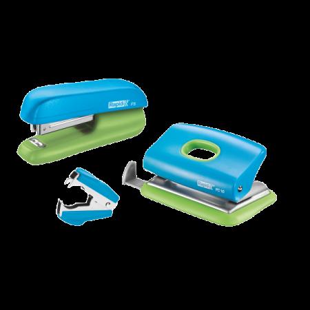 Set capsator F5 + perforator FC10 + decapsator C2 albastru/verde, RAPID