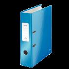 Biblioraft plastifiat 8cm 180° albastru metalizat, LEITZ WoW