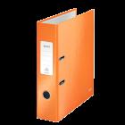 Biblioraft plastifiat 8cm portocaliu METALIZAT, LEITZ WoW