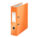 Biblioraft plastifiat 8cm 180° portocaliu metalizat, LEITZ WoW