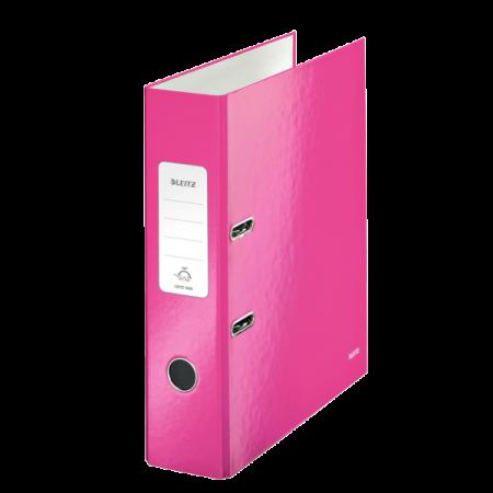Biblioraft plastifiat 8cm 180° roz metalizat, LEITZ WoW