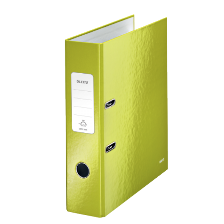Biblioraft plastifiat 8cm 180° verde metalizat, LEITZ WoW