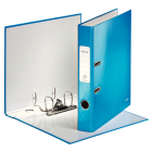 Biblioraft plastifiat 5cm albastru metalizat, LEITZ WoW
