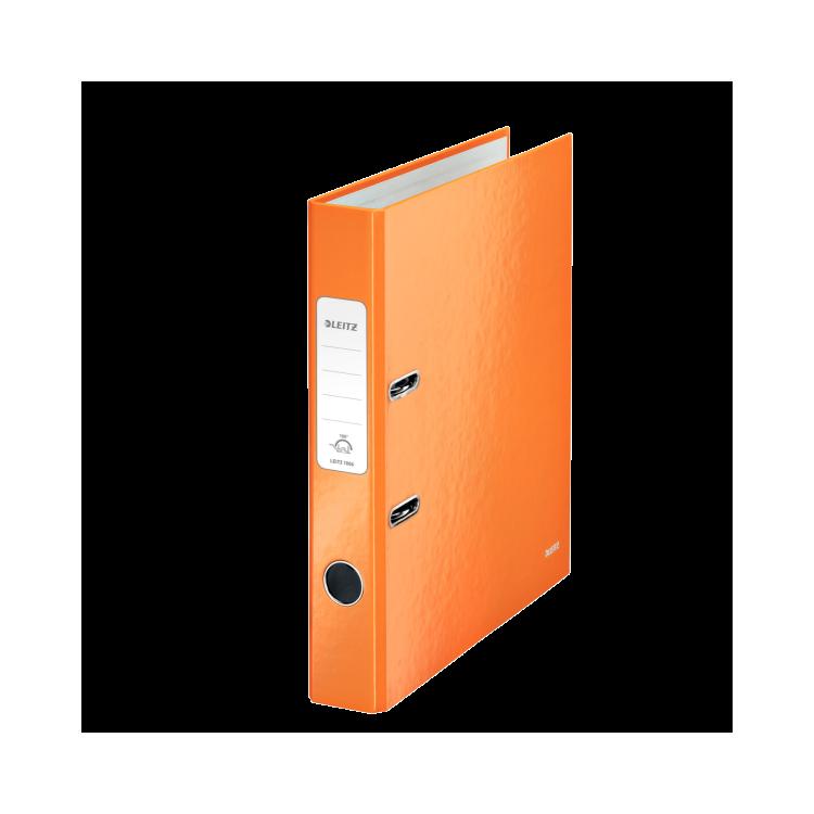 Biblioraft plastifiat 5cm 180° portocaliu metalizat, LEITZ WoW
