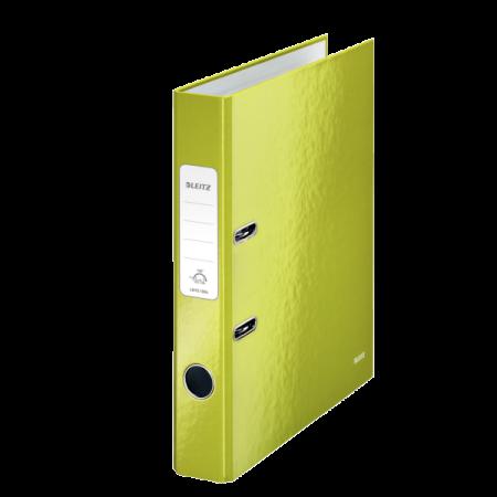 Biblioraft plastifiat 5cm 180° verde metalizat, LEITZ WoW