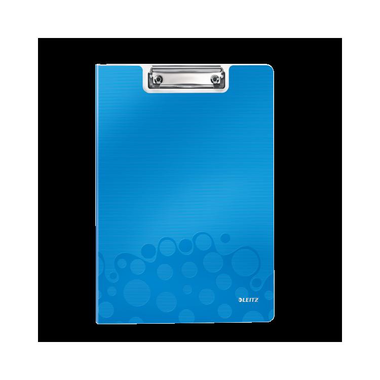 Clipboard dublu PP albastru metalizat , LEITZ WoW