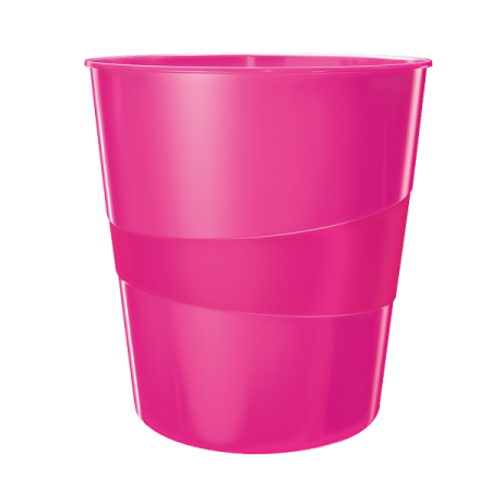 Cos hartii 15l plastic roz metalizat, LEITZ WoW