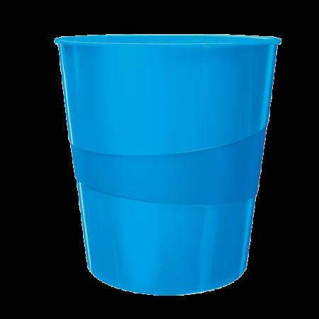 Cos hartii 15l plastic albastru metalizat, LEITZ WoW