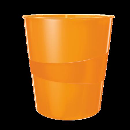 Cos hartii 15l plastic portocaliu metalizat, LEITZ WoW