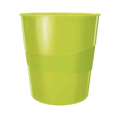 Cos hartii 15l plastic verde metalizat, LEITZ WoW