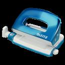 Perforator 10 coli albastru metalizat, LEITZ 5060