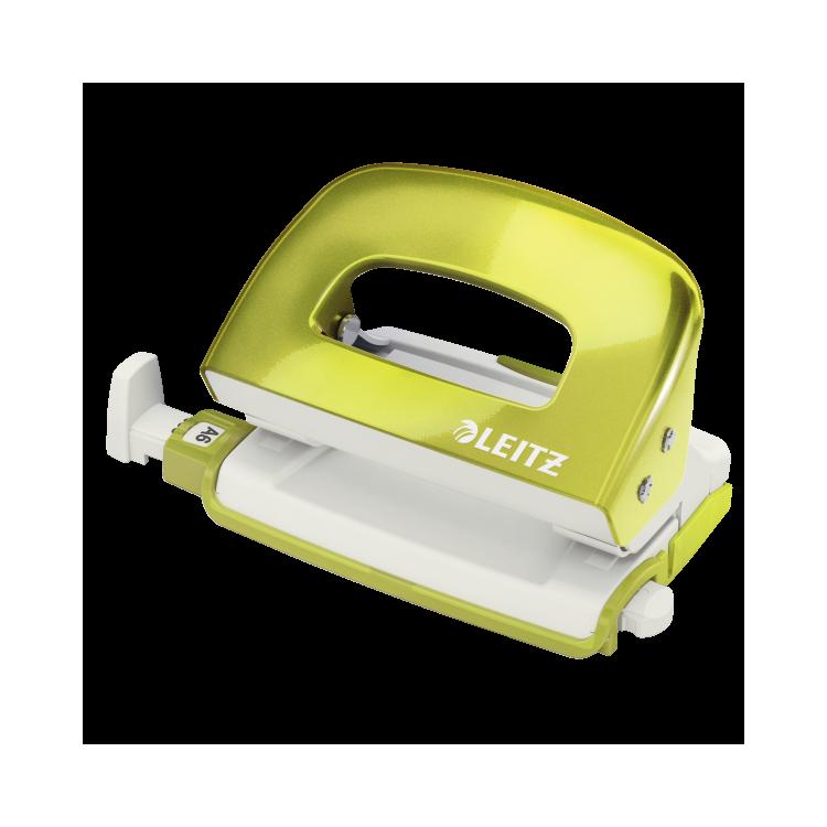 Perforator 10 coli verde metalizat, LEITZ 5060