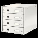 Suport documente cu 4 sertare alb, LEITZ Click&Store