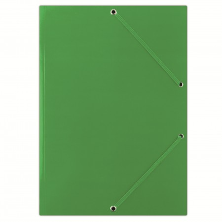 Mapa carton cu elastic 400g/mp verde, DONAU