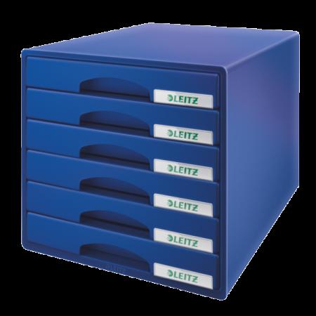 Suport documente cu 6 sertare negru LEITZ Plus
