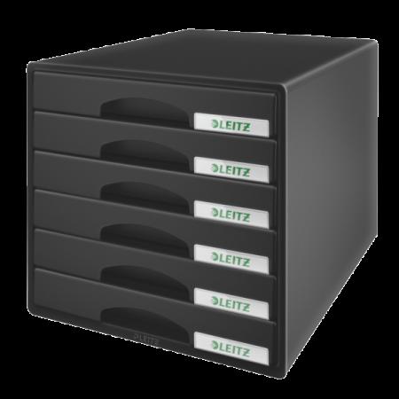 Suport documente cu 6 sertare albastru LEITZ Plus