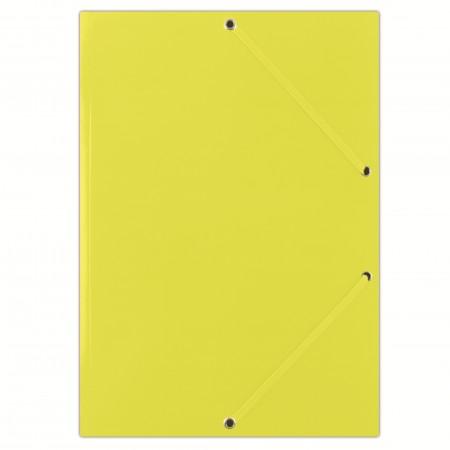 Mapa carton cu elastic 400g/mp galbena, DONAU