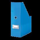 Suport vertical documente plastic albastru metalizat, LEITZ WoW Click&Store