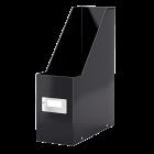 Suport vertical documente plastic negru metalizat, LEITZ WoW Click&Store