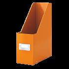 Suport vertical documente plastic portocaliu metalizat, LEITZ WoW Click&Store