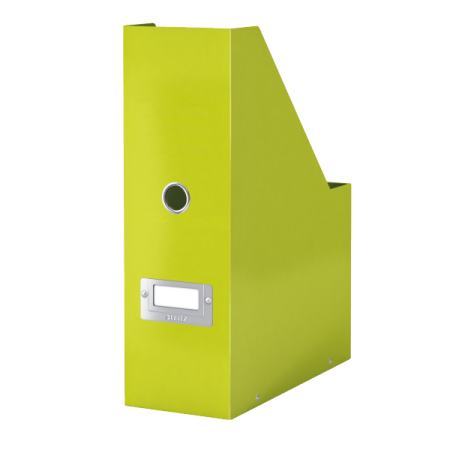 Suport vertical documente plastic verde metalizat, LEITZ WoW Click&Store