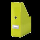 Suport vertical documente plastic verde metalizat, LEITZ WoW Click&Store