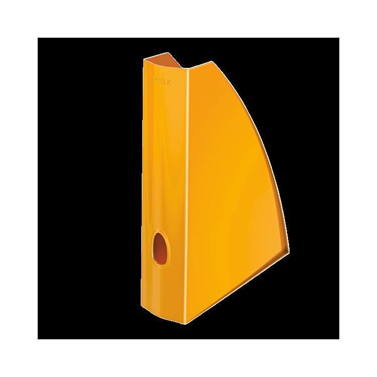 Suport vertical documente plastic portocaliu metalizat, LEITZ WoW