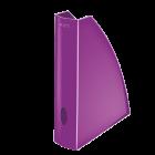 Suport vertical documente plastic mov metalizat, LEITZ WoW