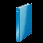 Caiet mecanic 2 inele albastru metalizat, LEITZ WoW