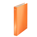 Caiet mecanic A4 2 inele portocaliu metalizat, LEITZ WoW