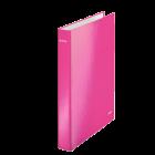Caiet mecanic 2 inele roz metalizat, LEITZ WoW