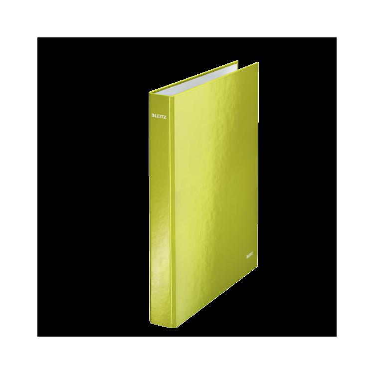 Caiet mecanic A4 2 inele verde metalizat, LEITZ WoW