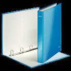 Caiet mecanic A4 4 inele albastru metalizat LEITZ WoW