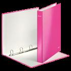 Caiet mecanic A4 4 inele roz metalizat LEITZ WoW