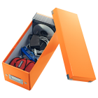 Cutie arhivare CD-uri portocalie, LEITZ WoW Click&Store