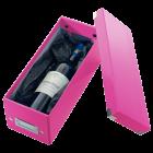 Cutie arhivare CD-uri roz, LEITZ WoW Click&Store