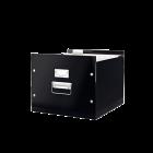 Cutie arhivare dosare suspendabile neagra, LEITZ WoW Click&Store